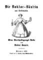 Die Doktor-Bäurin in Deisenhofen 1862 Titelblatt.png