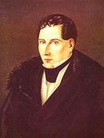 Diego Portales (1793-1837), Founder of the Chilean State and creator of the Constitution of 1833.