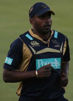 Dimitri Mascarenhas playing for Hampshire at t...