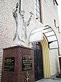 Divine Mercy church in Dzierżawy, St JP II.jpg