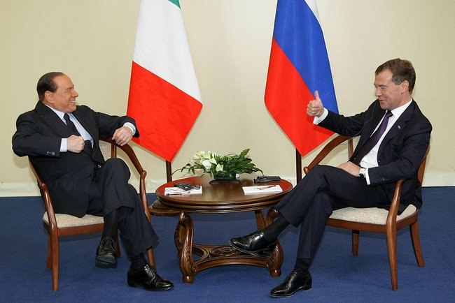 Dmitry Medvedev and Silvio Berlusconi 03