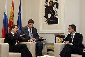 Dmitry Medvedev in Spain 3 March 2009-4