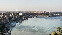 基輔-地方運輸-Dniepr river in Kyiv