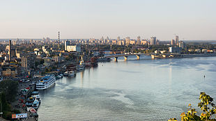 Il fiume Dnepr a Kiev.