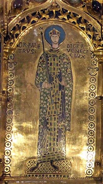 Ordelafo Faliero - Doge Ordelafo Faliero, from Pala d'Oro, Venezia