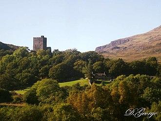 Dolwyddelan Castle - Dolwyddelan Castle from Railway Station