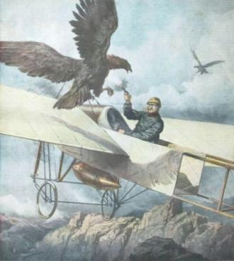 Eugène Gilbert - Image: Domenica del Corriere eagle attack