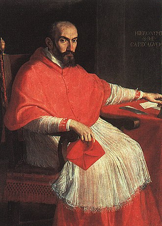 Giovanni Battista Agucchi - Domenichino, Portrait of Cardinal Girolamo Agucchi, older brother of Giovanni Battista, 1604–05
