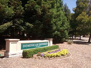 Dominican University of California - Image: Dominican University of California sign