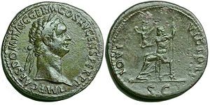 Domitian - A sestertius of Domitian
