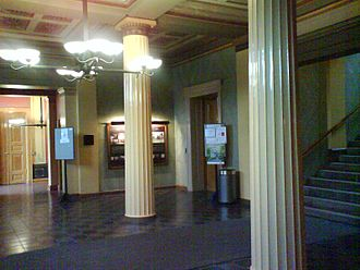 University of Oslo Faculty of Law - The foyer of Domus Academica. The Parliament of Norway convened in this building 1854–1866