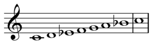 Dorian mode - Image: Dorian mode C