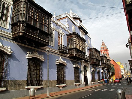 Casa de Osambela, headquarters of the Academia Peruana de la Lengua (APL) in Lima Downtown Lima (3913099716).jpg