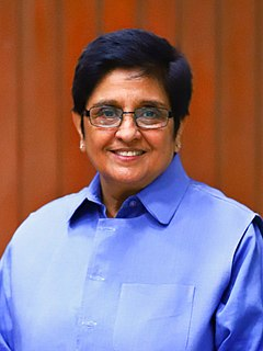 Kiran Bedi Lt. Governor of Puducherry and First woman Indian Police Service Officer