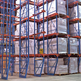 Pallet racking - Drive-in pallet rack system