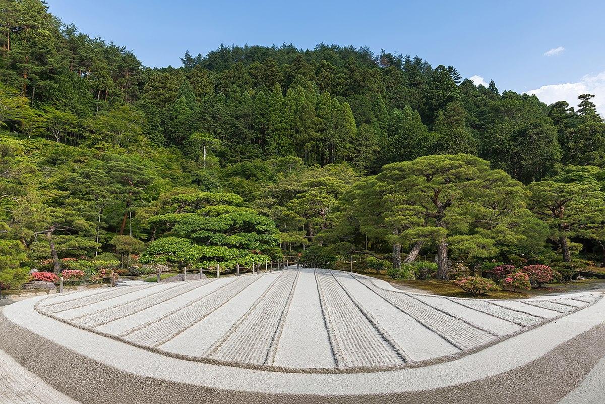 File Dry Sand Zen Garden Made Of Beige Stripes A Sunny Day At Higashiyama Jisho Ji Buddhist Temple Ginkaku Ji Kyoto Japan Jpg Wikipedia