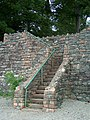 Drystone dyke and steps. - geograph.org.uk - 555655.jpg