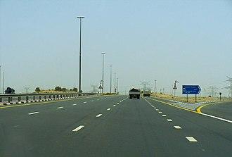 E 44 road (United Arab Emirates) - Image: Dubai Hatta Hwy