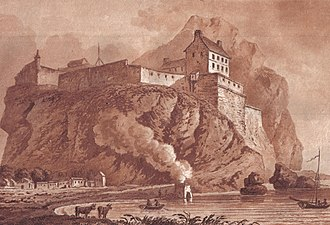 Dumbarton Castle - Dumbarton castle in 1800