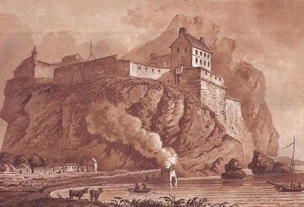 Dumbarton castle and lime kiln