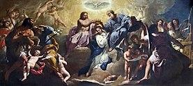 Duomo (Padua) - right arm of transept - The Coronation of the Virgin by Gregorio Lazzarini.jpg