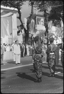 During ceremonies at Saigon, South Vietnam, the Vietnamese Air Force pledged its support for President Ngo Dinh Diem... - NARA - 542330.tif