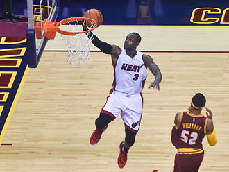 Dwyane Wade - Wade making a lay-up for the Heat in 2015.