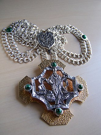 Adalbert of Prague - Canonical cross of St. Adalbert by Giennadij Jerszow. Collegiate Capitol in Gdańsk. Silver-Gold 2011