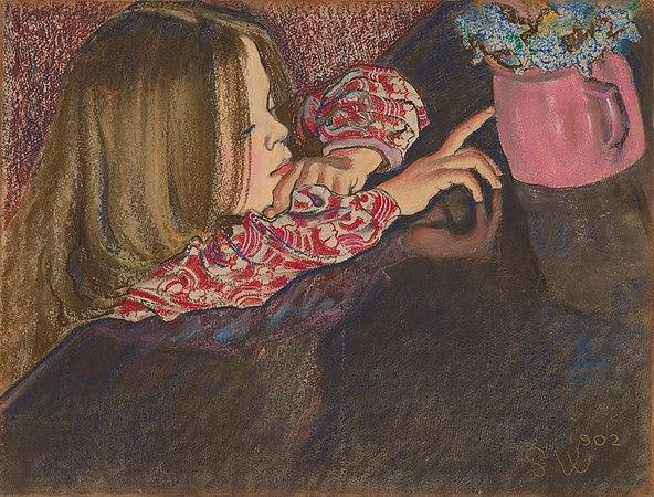 Dziewczynka z wazonem z kwiatami,1902.jpg