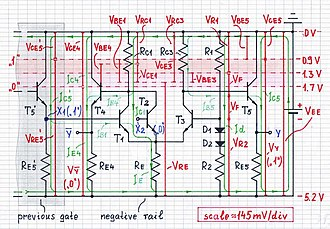 Emitter-coupled logic - Image: ECL logical 1 1000