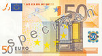 50 euro note of the 2002-2017 series (Obverse)