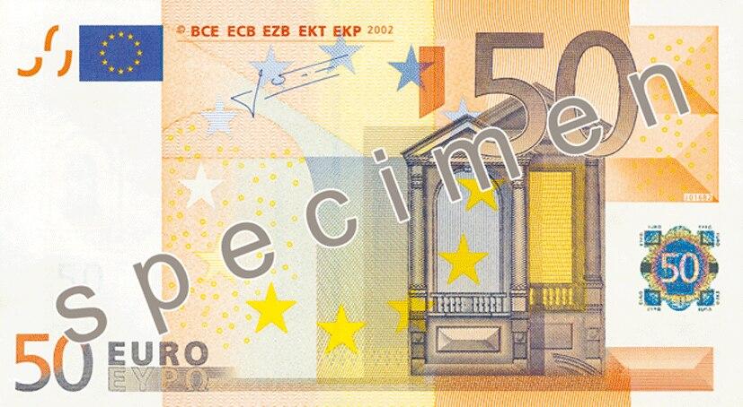 EUR 50 obverse (2002 issue)