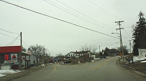 Eagle, Wisconsin - Looking south in downtown Eagle