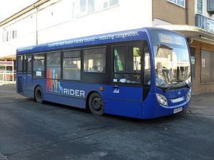 Renown Coaches - East Sussex Easy Rider liveried Alexander Dennis Enviro 200 in Lewes in November 2010