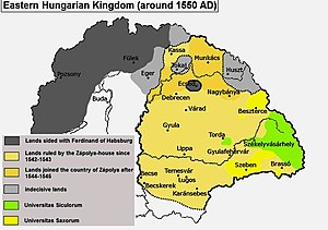 Eastern Hungarian Kingdom - Eastern Hungarian Kingdom around 1550