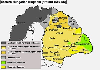 The Carpathian Basin divided into three parts