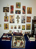 Eastern Orthodox prayer corner.jpg