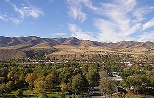 Western Pocatello, Idaho seen from Red Hill, O...