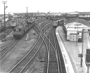Eastleigh - Eastleigh rail yard in 1984