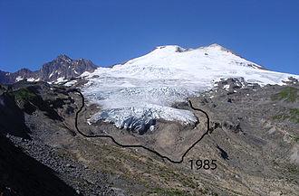 Easton Glacier - Easton Glacier on the south slope of Mt. Baker, note 1985 terminus position