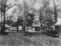 Eaton terminus, coal store and carriage shed, Eaton Hall Railway, Plate IX (Minimum Gauge Railways).png