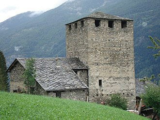 La Salle, Aosta Valley - Ecours Castle