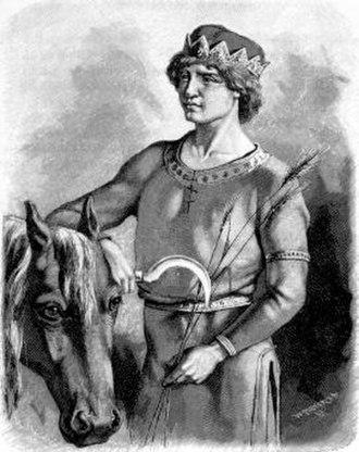 Skírnir - An illustration from Fredrik Sander's 1893 Swedish edition of the Poetic Edda