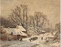 Eduard A. Ireland, Pempelforterstraße mit Blick auf den Malkastengarten, 1860.jpg