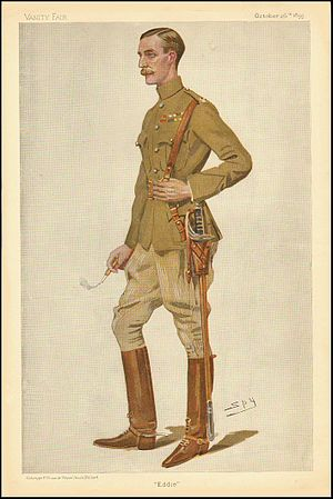 "Edward Montagu-Stuart-Wortley - ""Eddie"". Caricature by Spy published in Vanity Fair in 1899."
