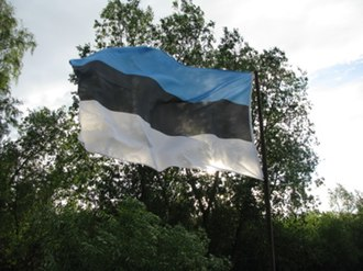 1996 Moscow–Constantinople schism - Estonian flag after the fall of the communist regime in Estonia