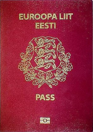 Estonian passport - Estonian biometric passport front cover