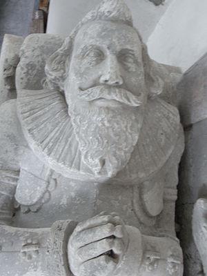 Brightley, Chittlehampton - Recumbent effigy of John Giffard (died 1622) of Brightley