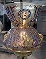 Egitto o siria, lampada da moschea coi titoli di un sultano, 1350 ca..JPG