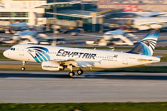EgyptAir Flight 181 - SU-GCB, the aircraft involved in the incident, in 2010